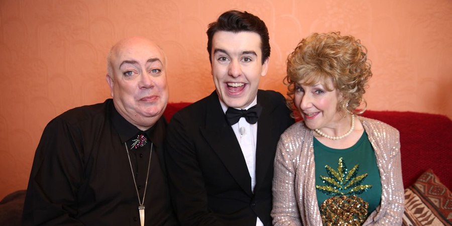 Al Porter In Ireland. Image shows from L to R: Les (Garry Mountaine), Al (Al Porter), Nana (Pauline McLynn).
