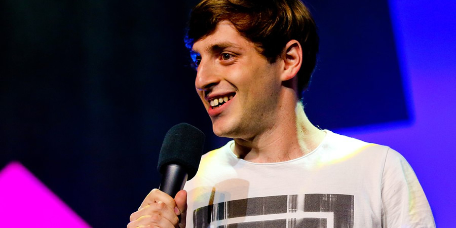 Alex Edelman's Peer Group. Alex Edelman. Copyright: BBC.