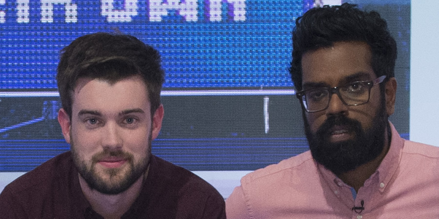 A League Of Their Own. Image shows from L to R: Jack Whitehall, Romesh Ranganathan. Copyright: CPL Productions.