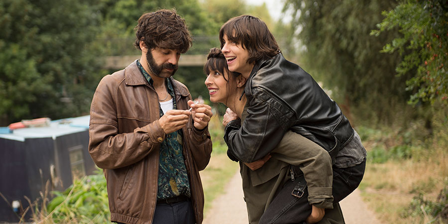 Anchor And Hope. Image shows from L to R: Roger (David Verdaguer), Eva (Oona Chaplin), Kat (Natalia Tena). Copyright: Network.