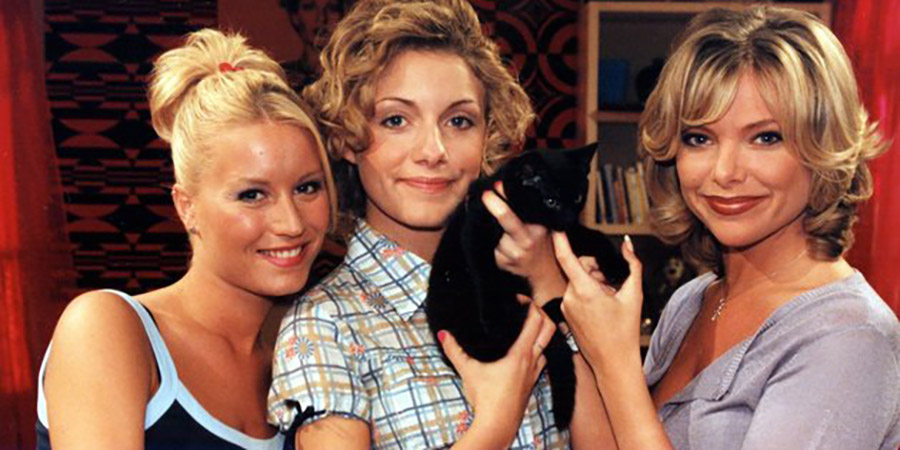Babes In The Wood. Image shows from L to R: Leigh (Denise Van Outen), Caralyn (Natalie Walter), Ruth (Samantha Janus). Copyright: ITV.