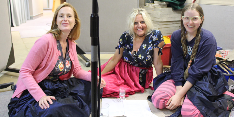 Bad Salsa. Image shows from L to R: Jill (Natasha Little), Terri (Camille Coduri), Chippy (Jessie Cave). Copyright: BBC.