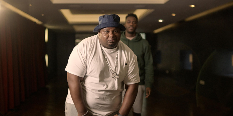The Big Narstie Show. Image shows from L to R: Big Narstie, Mo Gilligan.