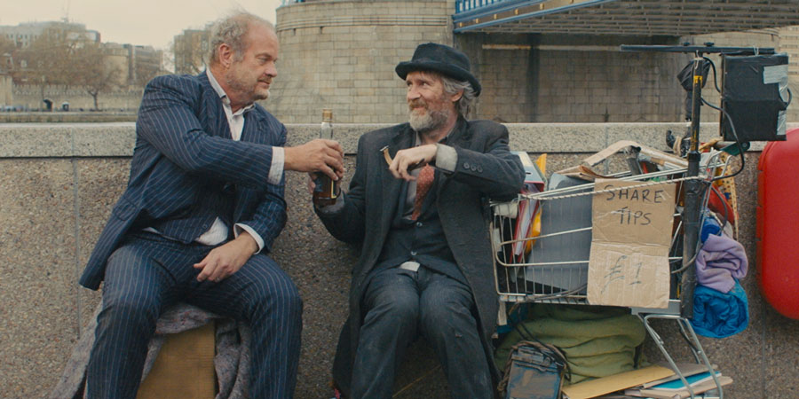 Breaking The Bank. Image shows from L to R: Charles Bunbury (Kelsey Grammer), Oscar (Pearce Quigley).