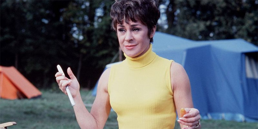 Carry On Camping. Anthea Meeks (Dilys Laye). Copyright: Peter Rogers Productions / ITV Studios.