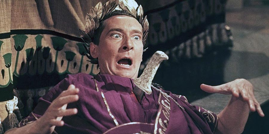 Carry On Cleo. Caesar (Kenneth Williams). Copyright: Peter Rogers Productions.