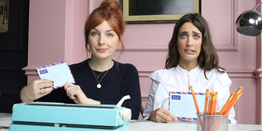 Celebrity Advice Bureau. Image shows from L to R: Alice Levine, Laura Jackson. Copyright: UKTV.