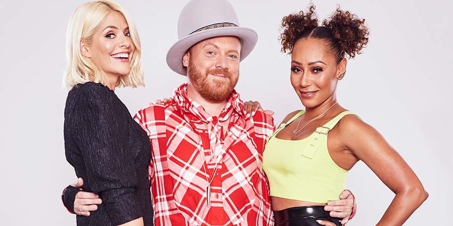 Celebrity Juice. Image shows from L to R: Holly Willoughby, Leigh Francis, Melanie Brown. Copyright: Talkback.