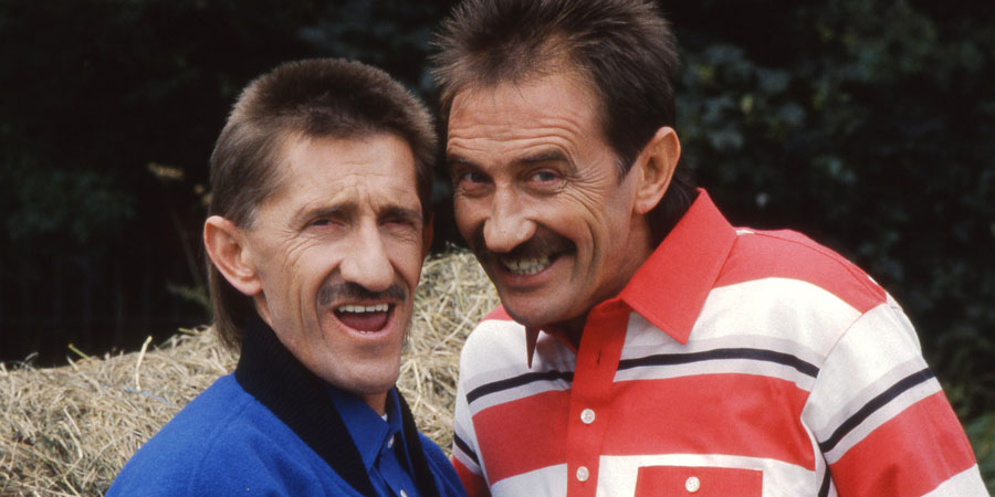 ChuckleVision. Image shows from L to R: Barry Chuckle (Barry Elliott), Paul Chuckle (Paul Elliott).