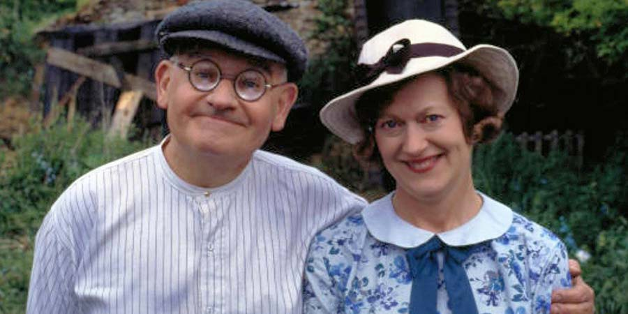 Clarence. Image shows from L to R: Clarence Sale (Ronnie Barker), Jane Travers (Josephine Tewson). Copyright: BBC.