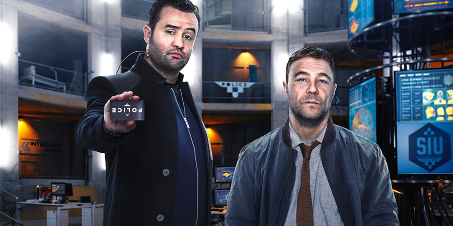 Code 404. Image shows from L to R: DI John Major (Daniel Mays), DI Roy Carver (Stephen Graham).