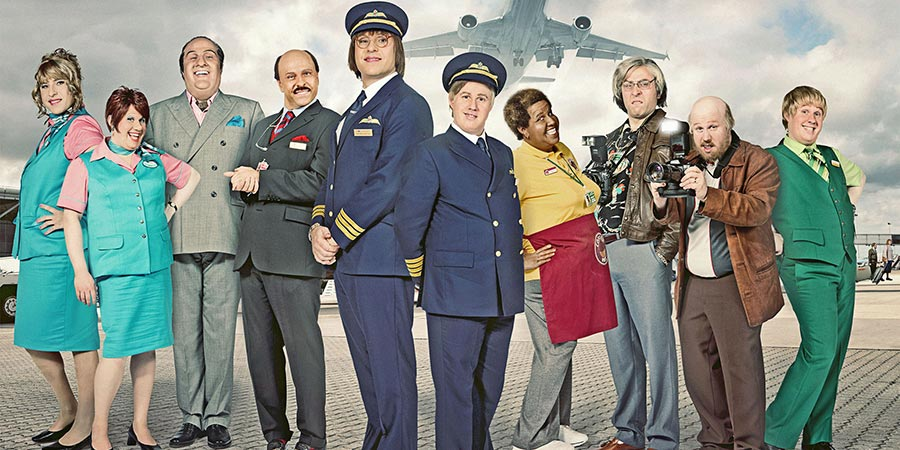 Come Fly With Me. Image shows from L to R: David Walliams, Matt Lucas, David Walliams, David Walliams, David Walliams, Matt Lucas, Matt Lucas, David Walliams, Matt Lucas, Matt Lucas.