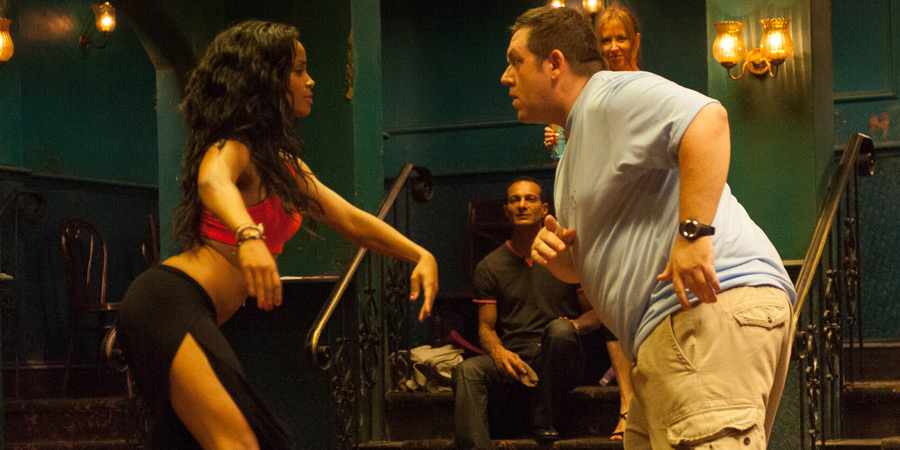 Cuban Fury. Image shows from L to R: Alicia (Yanet Fuentes), Bruce Garrett (Nick Frost). Copyright: Big Talk Productions.