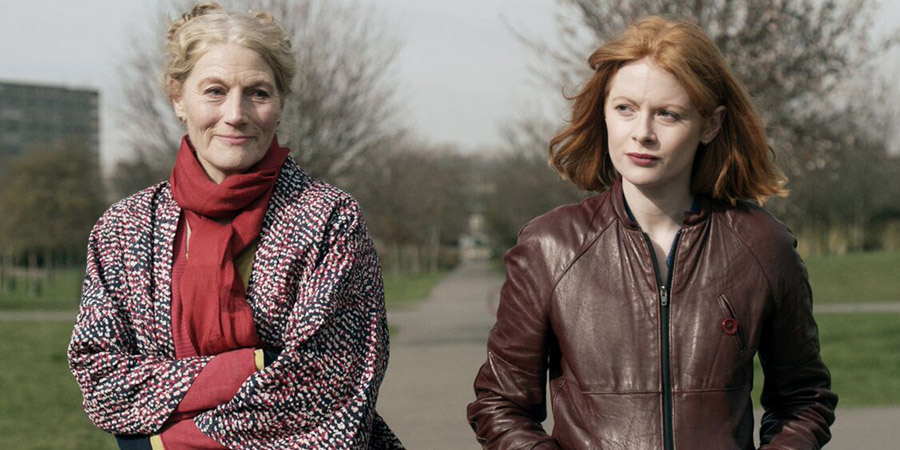 Daphne. Image shows from L to R: Rita (Geraldine James), Daphne (Emily Beecham). Copyright: Altitude.