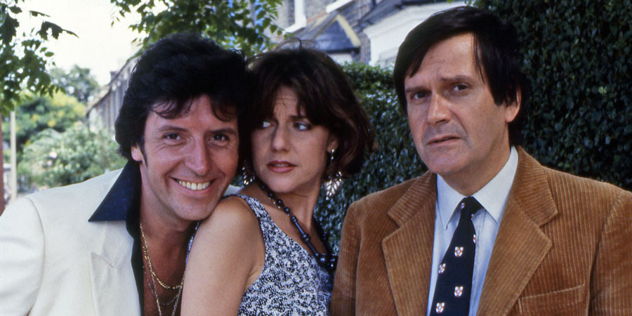 Dear John..... Image shows from L to R: Kirk (Peter Blake), Kate (Belinda Lang), John Lacey (Ralph Bates). Copyright: BBC.