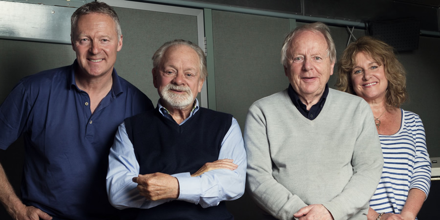 Desolation Jests. Image shows from L to R: Rory Bremner, David Jason, John Bird, Jan Ravens. Copyright: BBC.