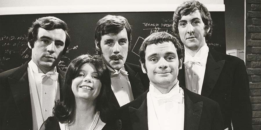 Do Not Adjust Your Set. Image shows from L to R: Terry Jones, Denise Coffey, Michael Palin, Terry Jones, Eric Idle. Copyright: Thames Television.