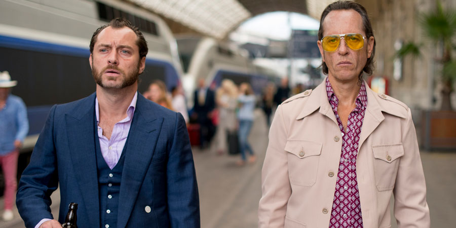 Dom Hemingway. Image shows from L to R: Dom Hemingway (Jude Law), Dickie (Richard E. Grant).