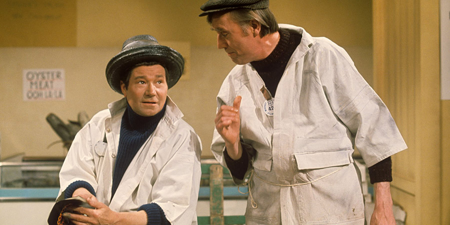 Down The 'Gate. Image shows from L to R: Reg Furnell (Reg Varney), Len Peacock (Tony Melody). Copyright: Associated Television.
