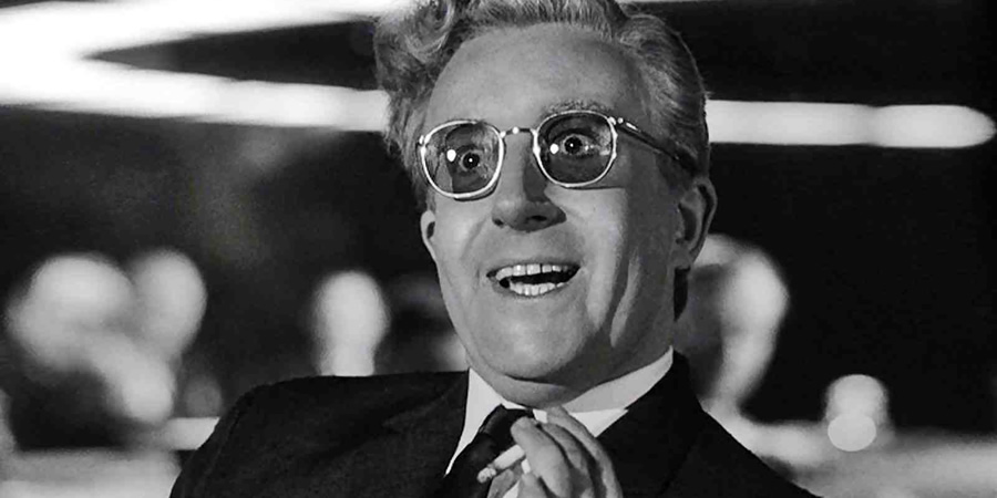 Dr Strangelove Or: How I Learned To Stop Worrying And Love The Bomb. Dr Strangelove (Peter Sellers).