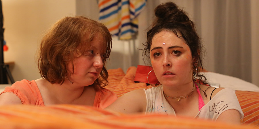 Emma Sidi's Summer. Image shows from L to R: Becca (Kath Hughes), Alex (Emma Sidi). Copyright: Objective Productions.