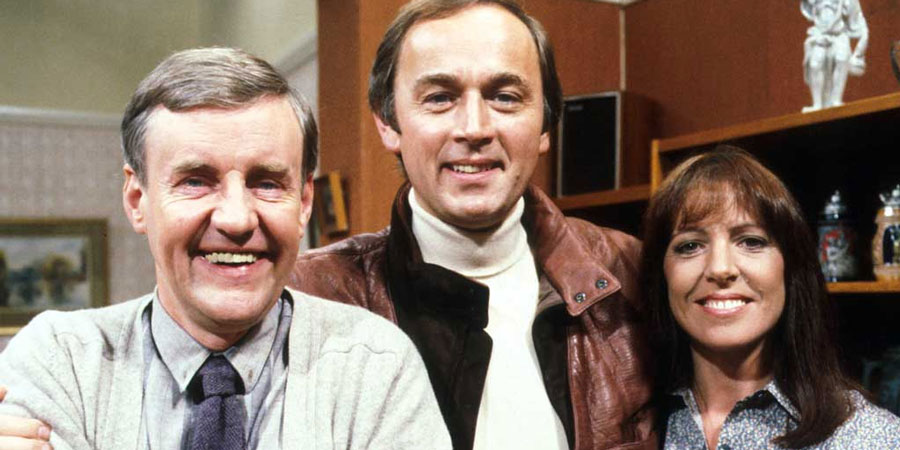 Ever Decreasing Circles. Image shows from L to R: Martin Bryce (Richard Briers), Paul Ryman (Peter Egan), Ann Bryce (Penelope Wilton). Copyright: BBC.