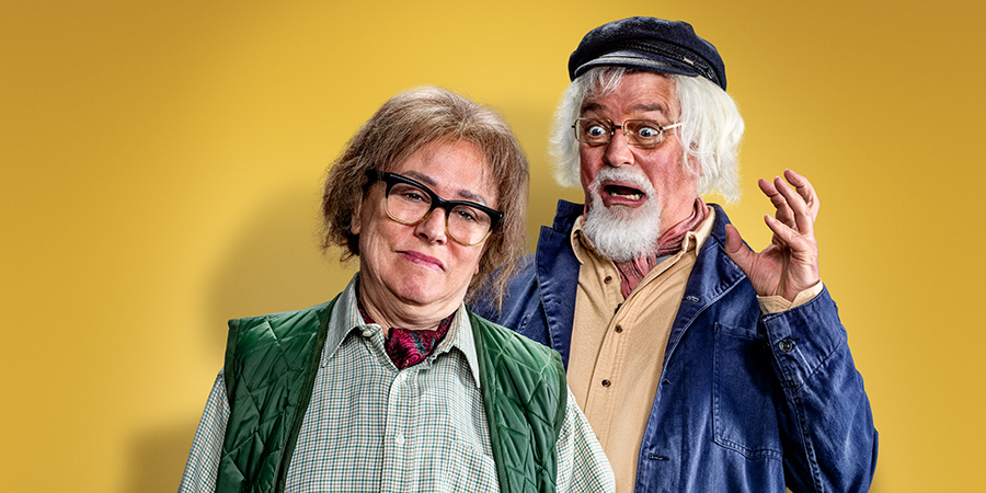 The Fast Show: Just A Load Of Blooming Catchphrases. Image shows from L to R: Arabella Weir, Charlie Higson. Copyright: Crook Productions.