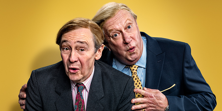 The Fast Show: Just A Load Of Blooming Catchphrases. Image shows from L to R: Paul Whitehouse, Mark Williams. Copyright: Crook Productions.