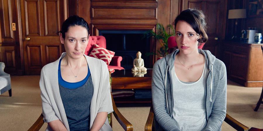 Fleabag. Image shows from L to R: Claire (Sian Clifford), Fleabag (Phoebe Waller-Bridge). Copyright: Two Brothers Pictures.