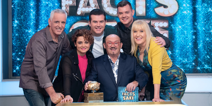 For Facts Sake. Image shows from L to R: Pat Shields, Fiona O'Carroll, Paddy Houlihan, Brendan O'Carroll, Danny O'Carroll, Jennifer Gibney.