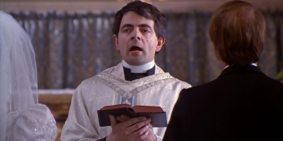 Four Weddings And A Funeral. Father Gerald (Rowan Atkinson).