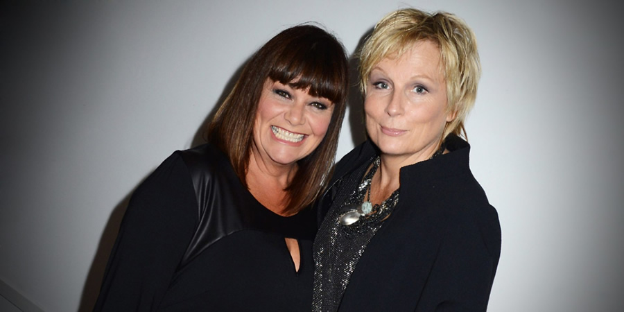 Image shows from L to R: Dawn French, Jennifer Saunders. Copyright: BBC.