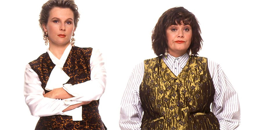 French And Saunders. Image shows from L to R: Jennifer Saunders, Dawn French.