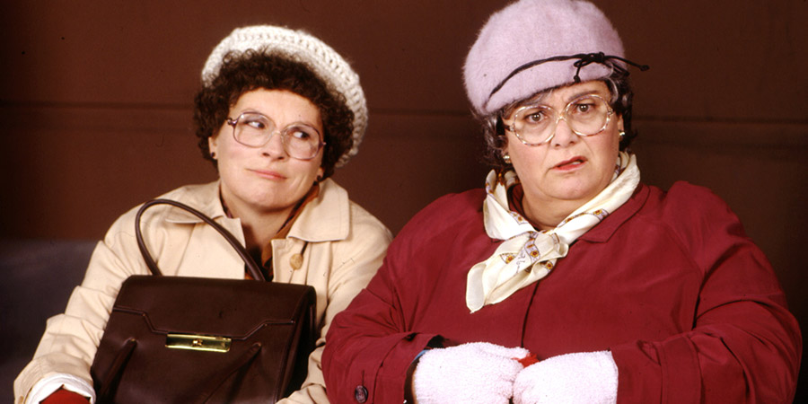 French And Saunders. Image shows from L to R: Jennifer Saunders, Dawn French. Copyright: BBC.