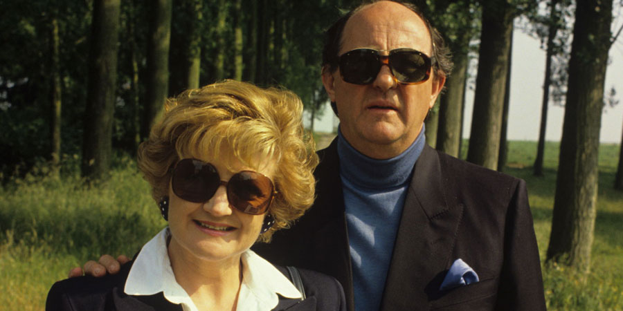French Fields. Image shows from L to R: Hester Fields (Julia McKenzie), William Fields (Anton Rodgers). Copyright: Thames Television.