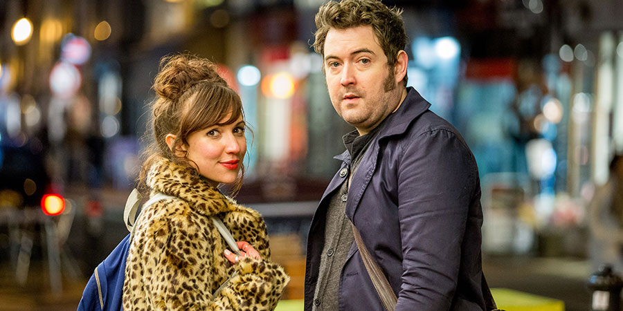 Elephant. Image shows from L to R: Her (Esther Smith), Him (Nick Helm). Copyright: Happy Tramp Productions.