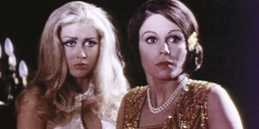 Games That Lovers Play. Image shows from L to R: Constance Chatterley (Penny Brahms), Fanny Hill (Joanna Lumley). Copyright: Border Films.