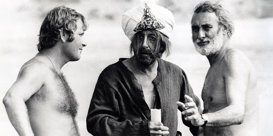 Ghost In The Noonday Sun. Image shows from L to R: Peter Medak, Peter Sellers, Spike Milligan.