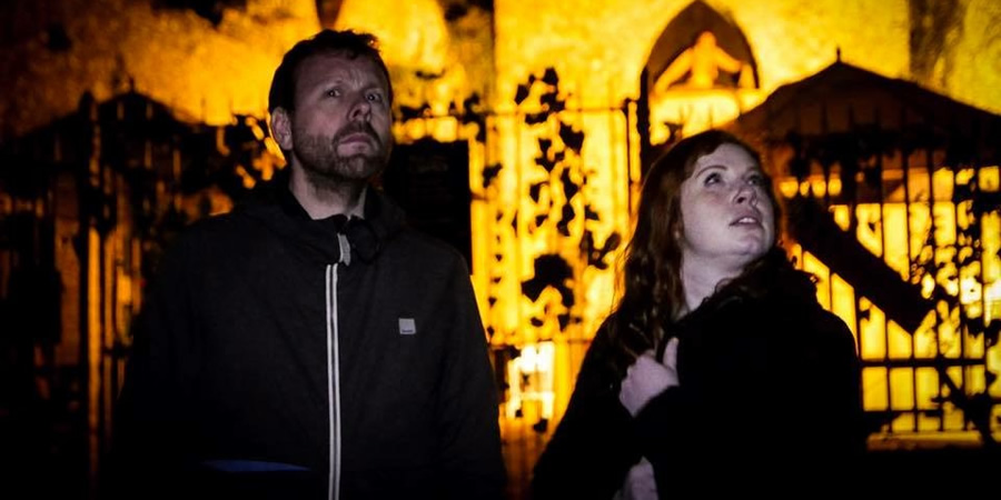 Ghost Police. Image shows from L to R: Michael Legge, Eleanor Morton. Copyright: Turtle Canyon Comedy.