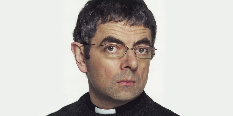 God's Work. Rowan Atkinson. Copyright: Hat Trick Productions.
