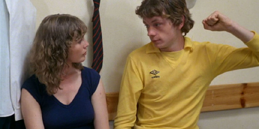Gregory's Girl. Image shows from L to R: Dorothy (Dee Hepburn), Gregory Underwood (John Gordon Sinclair).