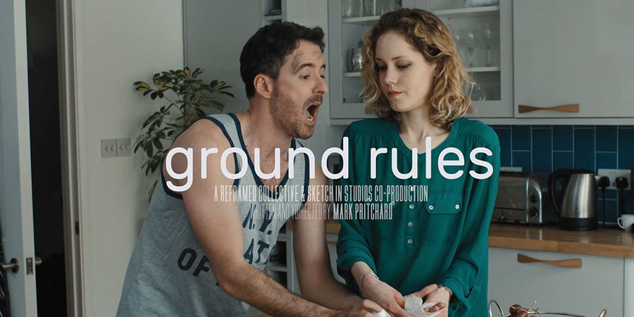 Ground Rules. Image shows from L to R: Matt (Eric Geynes), Molly (Katherine Press).