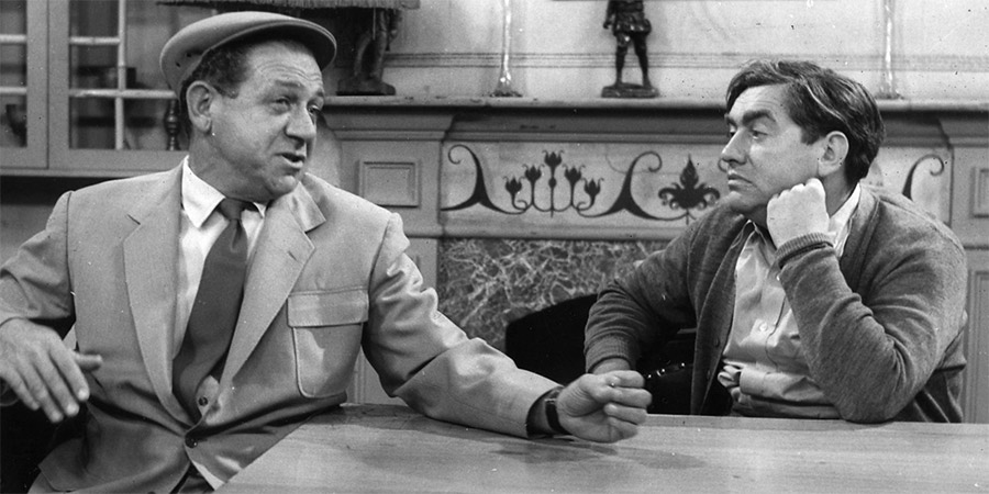 Hancock's Half Hour. Image shows from L to R: Sidney Balmoral James (Sid James), Anthony Aloysius St John Hancock (Tony Hancock). Copyright: BBC.