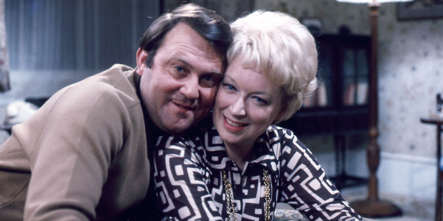 Happy Ever After. Image shows from L to R: Terry Fletcher (Terry Scott), June Fletcher (June Whitfield). Copyright: BBC.