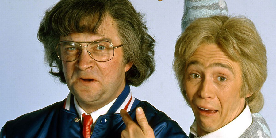 Harry Enfield's Television Programme. Image shows from L to R: Harry Enfield, Paul Whitehouse. Copyright: Hat Trick Productions.