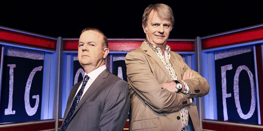 Have I Got News For You. Image shows from L to R: Ian Hislop, Paul Merton.