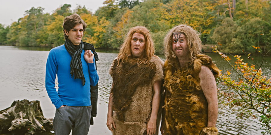 Horrible Histories. Image shows from L to R: Mathew Baynton, Martha Howe-Douglas, Jim Howick.