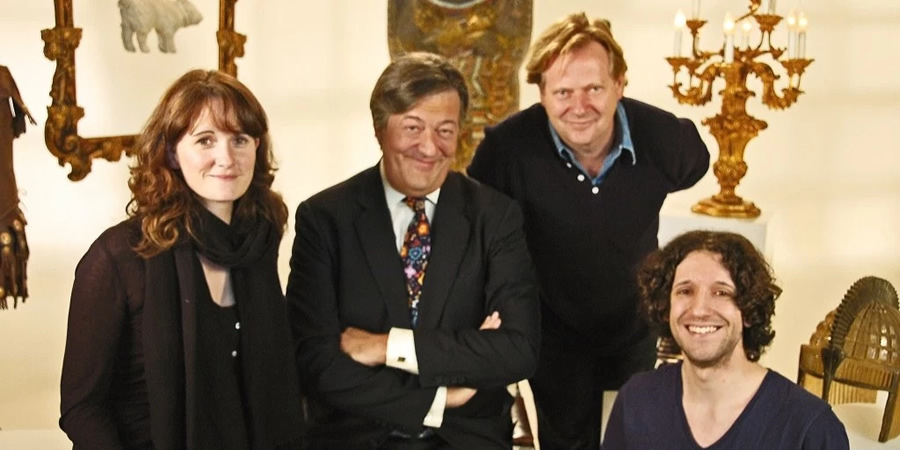Horrible Histories With Stephen Fry. Image shows from L to R: Caroline Norris, Stephen Fry, Unknown, Greg Jenner.