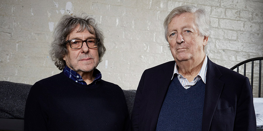 Porridge: Inside Out. Image shows from L to R: Ian La Frenais, Dick Clement. Copyright: Phil McIntyre Entertainment.