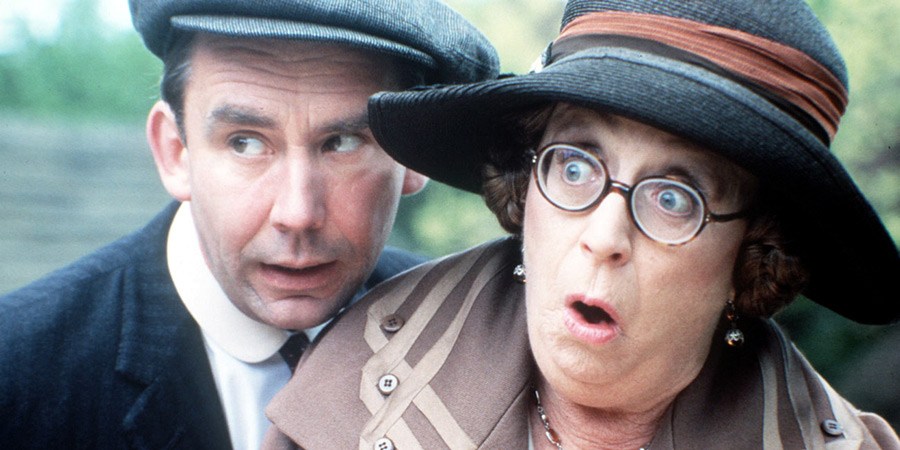 In Loving Memory. Image shows from L to R: Billy Henshaw (Christopher Beeny), Ivy Unsworth (Thora Hird).